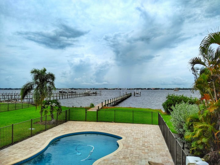 Jensen Beach Pool House with Big Water Views
