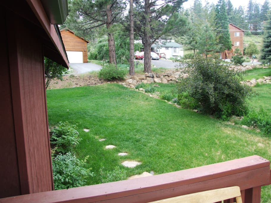 Front lawn from deck