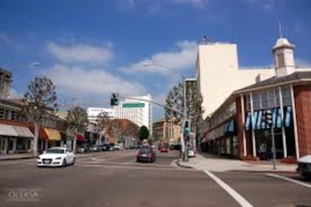 Beverly Dr with many restaurants and shops.