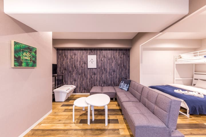 Minn Juso Family Suite Room(H) 5min walk from Juso station
