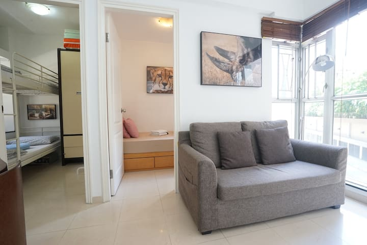 French Window 2BR 3min MTR Wan Chai - Hong Kong - Leilighet