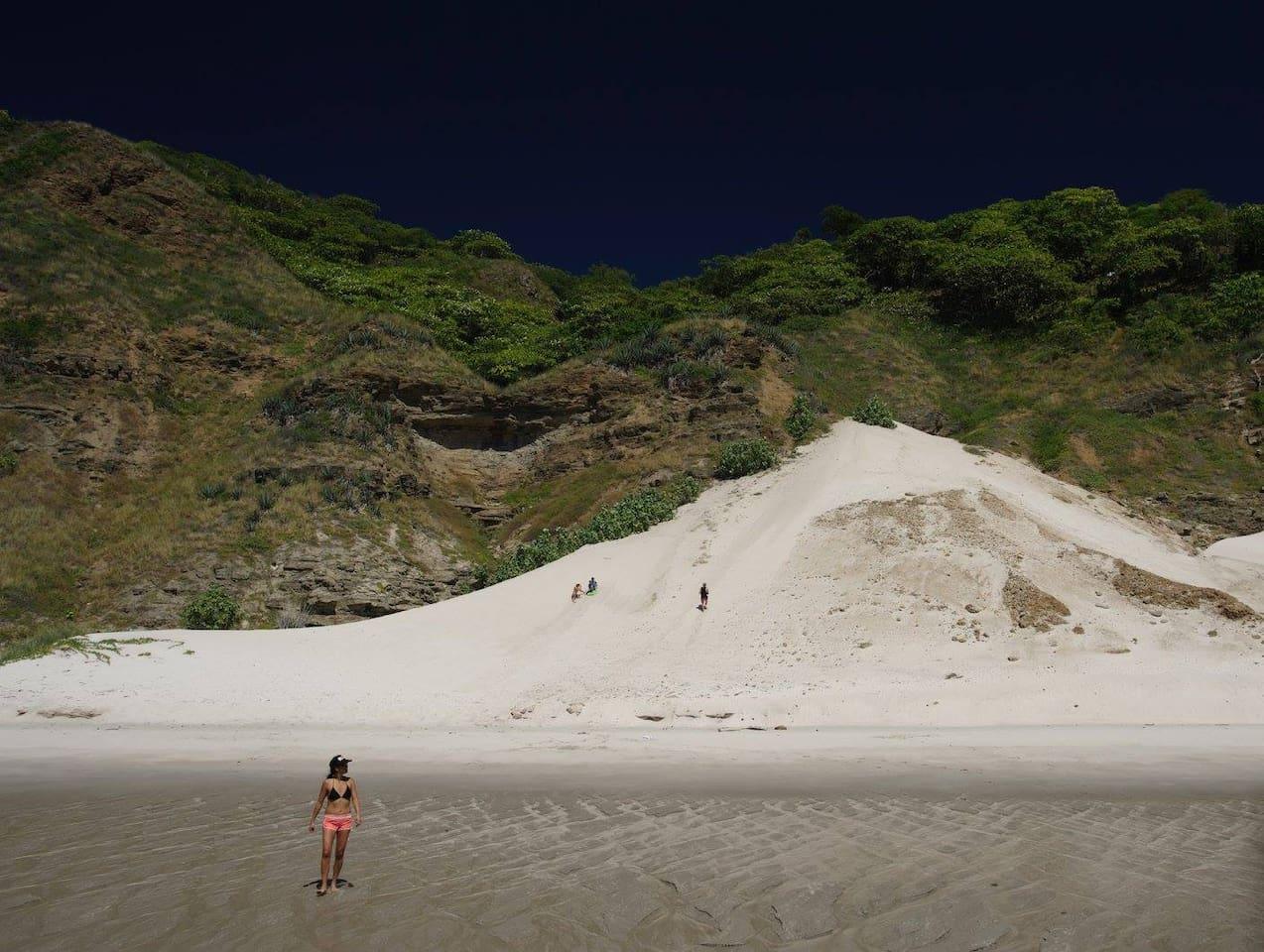 Sand dune hike and fun.