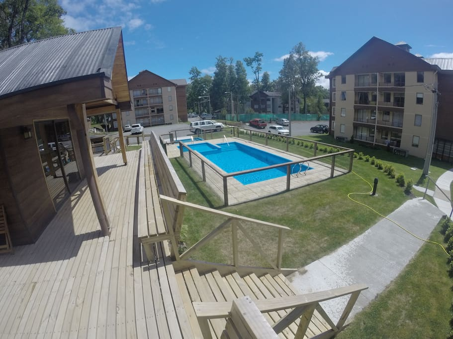 Quincho con piscina