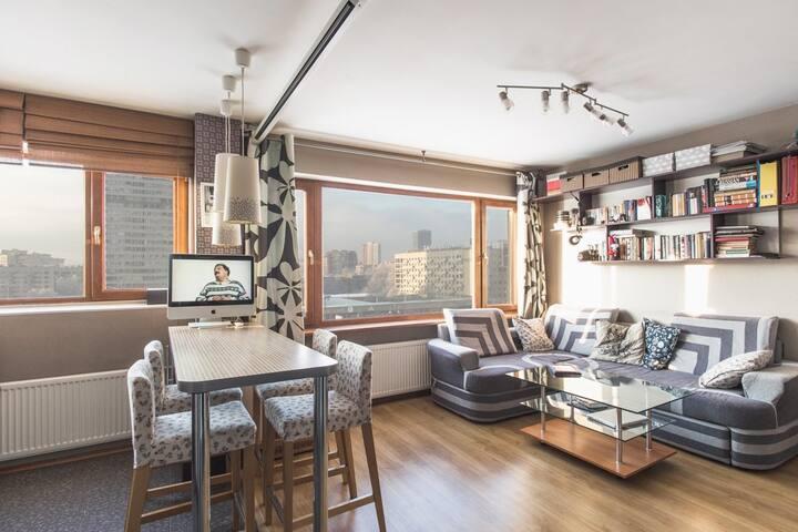 Уютная квартира-студия на Площади Победы - Sankt-Peterburg - Apartment