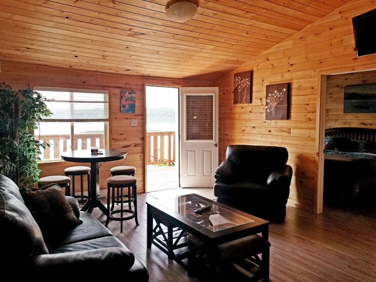The living room! A great space to visit and enjoy the view!