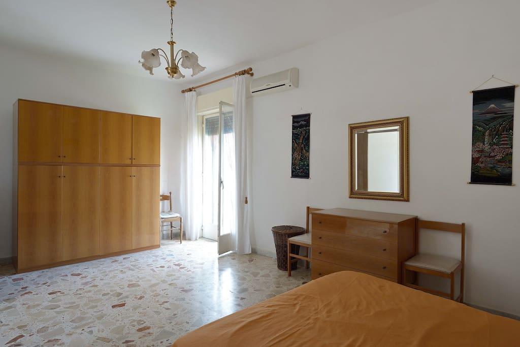 Huge master bedroom with balcony & superb views. Huge windows