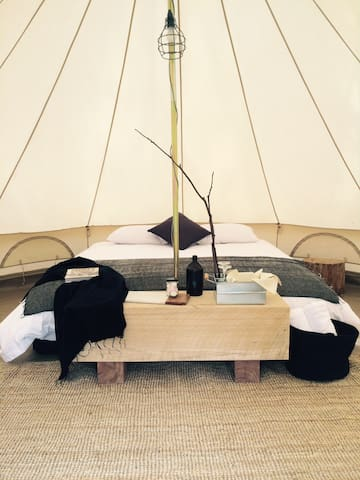 Bay of Fires Bush Retreat Bell Tent – Sloop - Binalong Bay