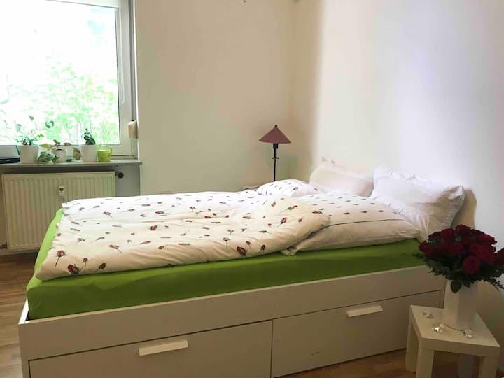 Großes Zimmer in schöner Wohnung in Bahnhofsnähe