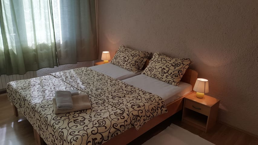 Large room for two with bathroom in the room