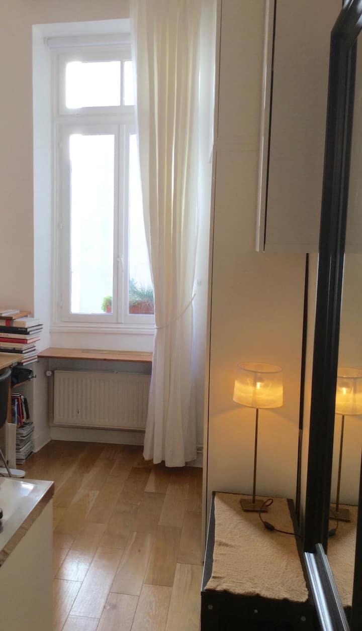 Petit studio calme et lumineux dans le Marais