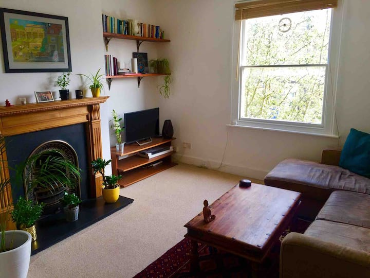 Bright, spacious flat on leafy street