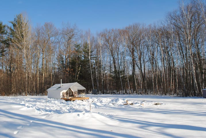 Winter Wall Tent with Wood Stove  - Glampsite NH