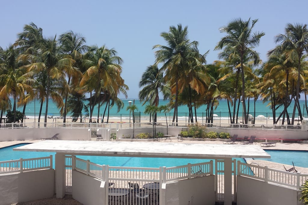 Beach front and pool!