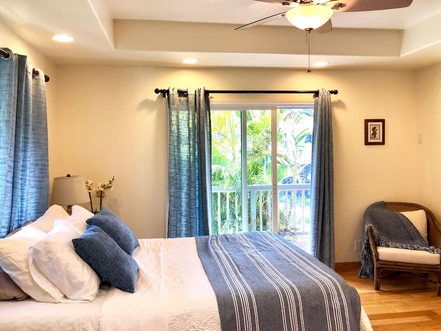 Master Bedroom with AC, nice sheets