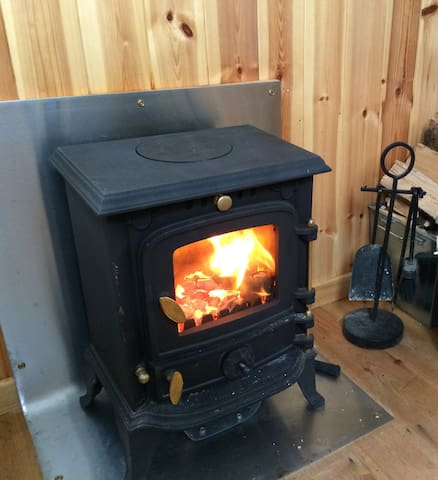 The cosy fire in Ivy