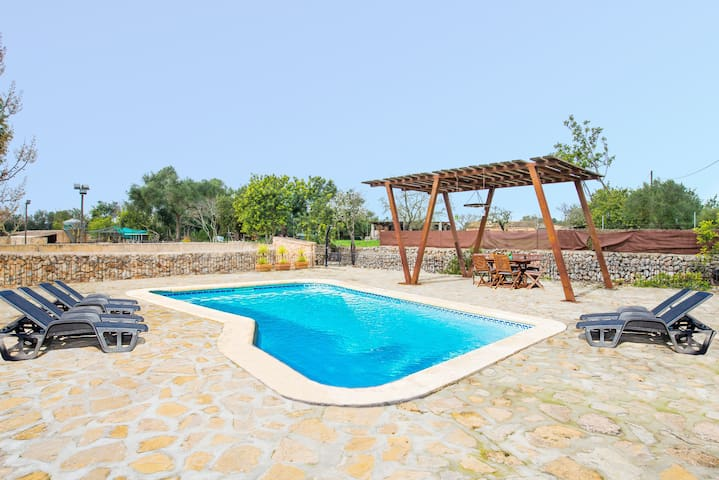 SON SELLES VUIT - Villa with private pool in Sencelles.