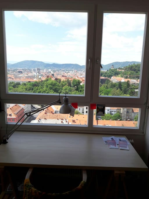 the view out of my room on the schlossberg