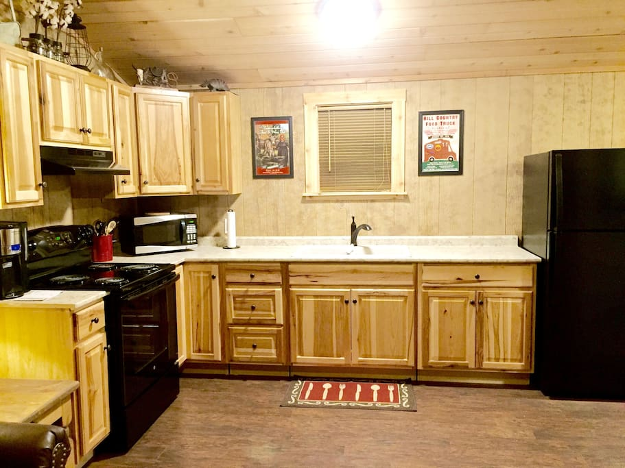 Kitchen with full size appliances.