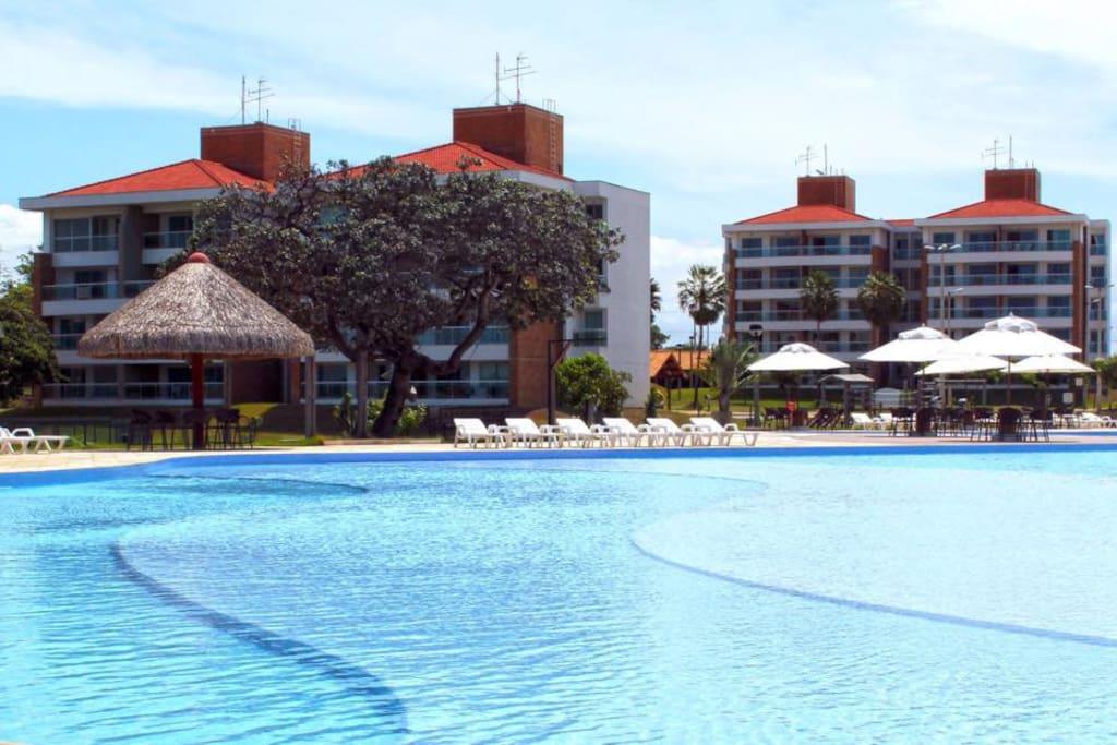 Vista da piscina e apartamentos / Swimming pools's view and apartments