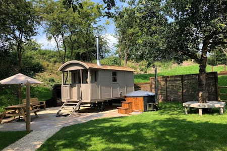 Shepherd's Hut and Woodfired Hot tub