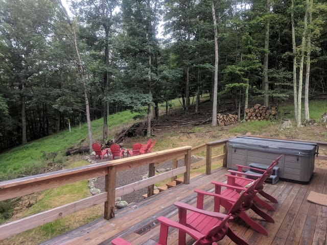 Newly installed back yard fire pit
