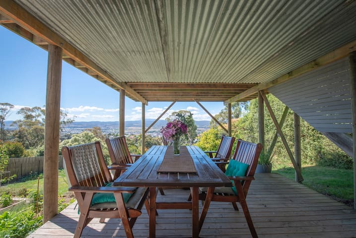 your own deck to relax on with views of the city