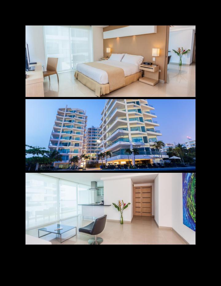 Habitación doble en hotel,  Cartagena (6 personas)