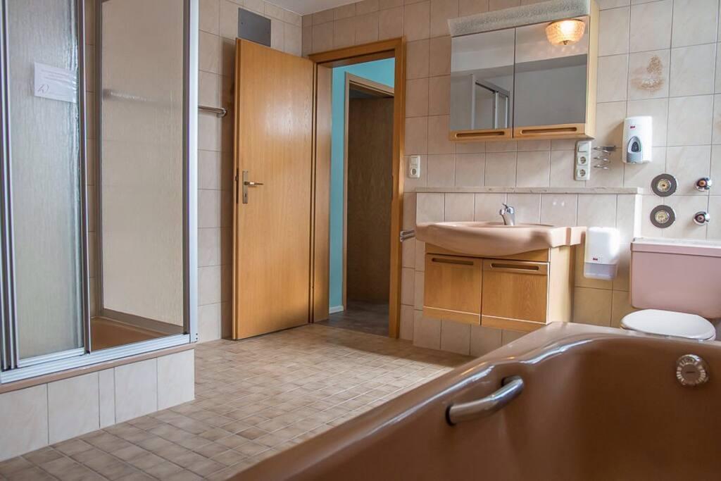 Badezimmer unseres größten Zimmers