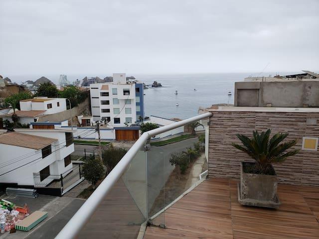 Amplio departamento en playa Santa María del Mar