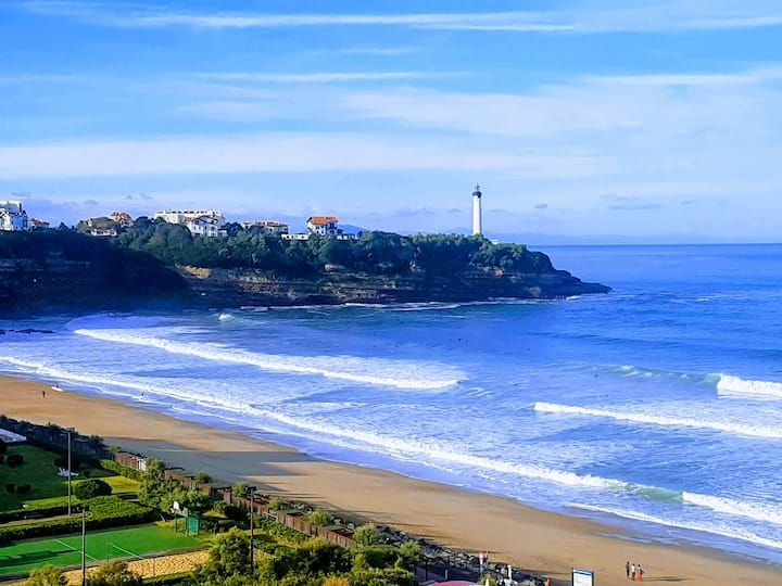 Anglet - Balcon vue/mer & proche plage - 1/4 pers