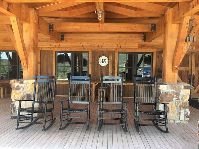 Lodge Front Porch