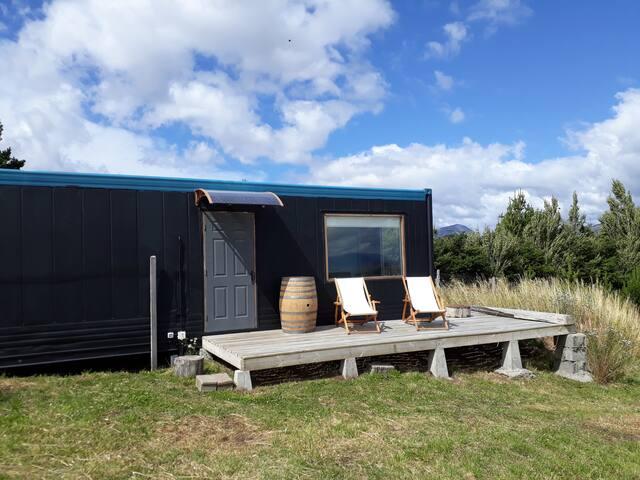 Cabaña: Acogedor refugio con  vista a la Patagonia
