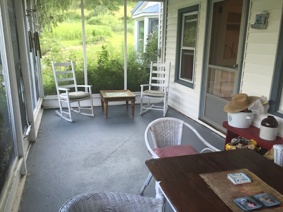 Our screened in porch that is lovely to have evening dinners straight from the BBQ
