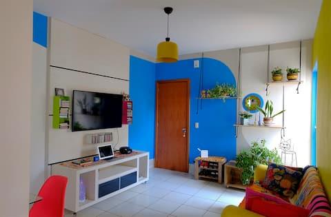 Apartamento silencioso e charmoso no Jundiaí