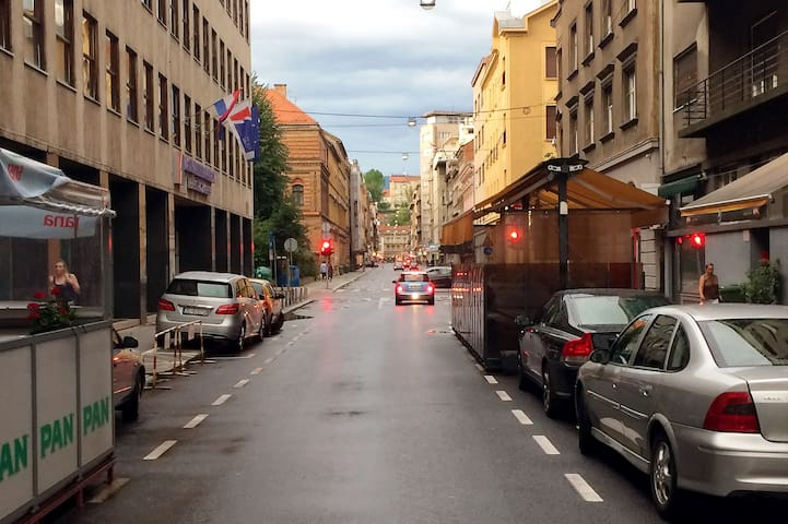 Our street. On one end is main street Ilica and old Upper town....