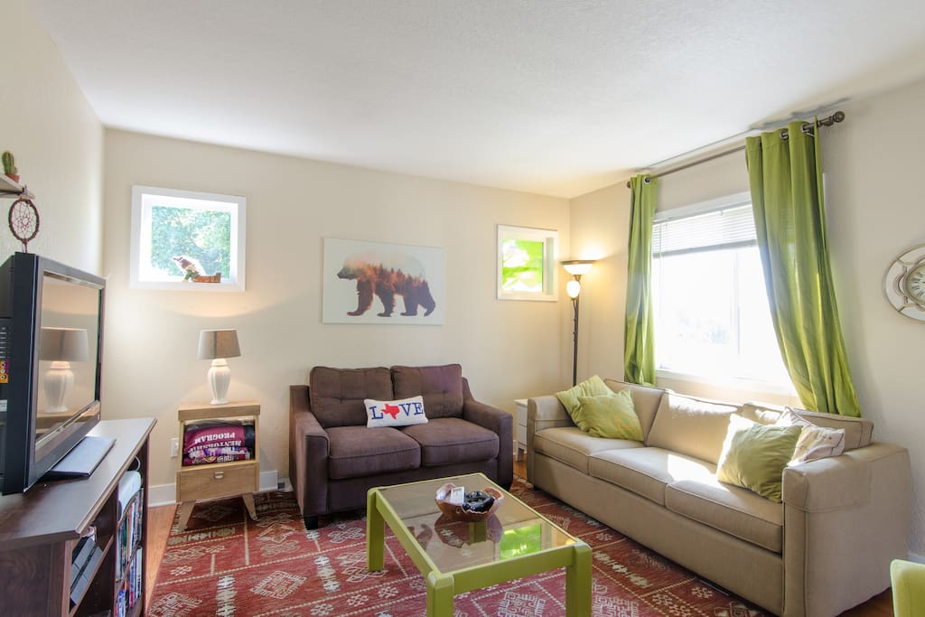 The interior is perfect for families with children with a spacious, open-plan layout and many toys and books