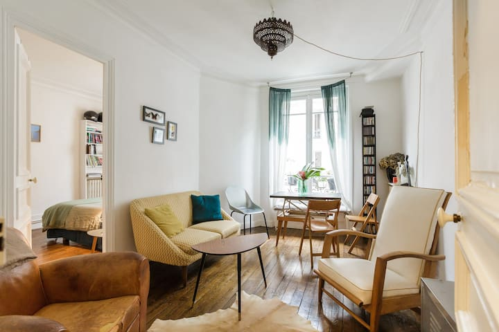Bright typical parisian flat 11e Charonne Bastille - Paris - Apartemen