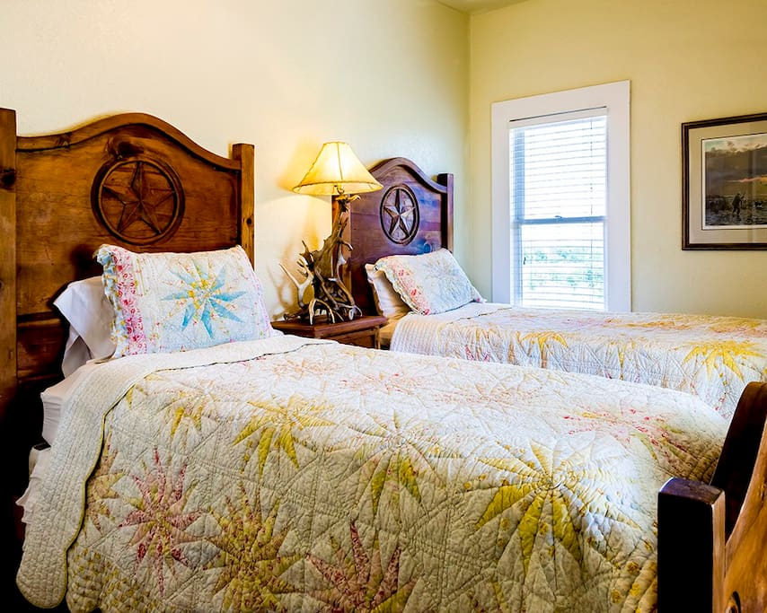 Bedroom - One of two twin Beds