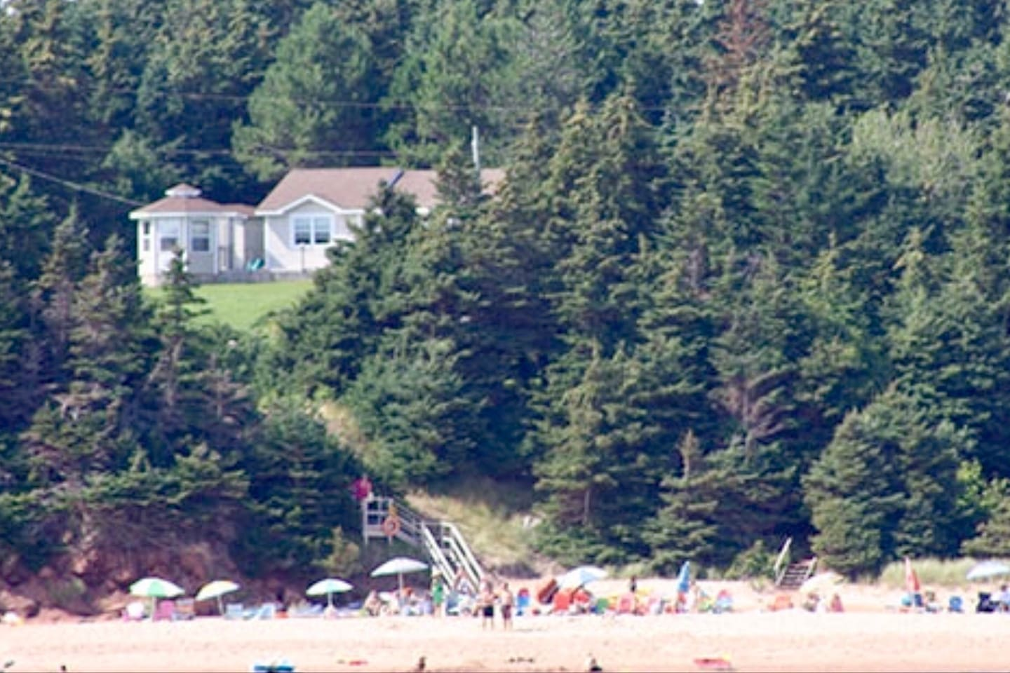 View from the Beach to the Cottage