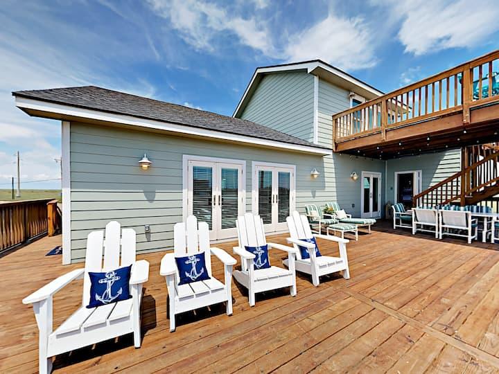 New Beachside Getaway with Pool & Gulf Views