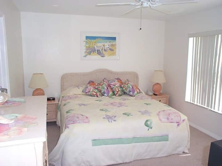 Tropical condo steps from the beach...GREAT PRICE!