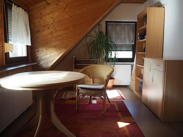 Zimmer und Bad mit Alpenfeeling im Dachgeschoss - München - House