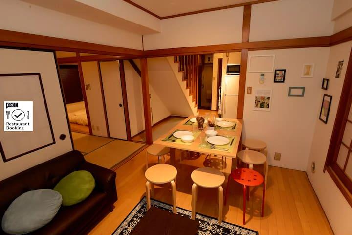 UENO 2 Story Japanese Style Flat for 10ppl!!