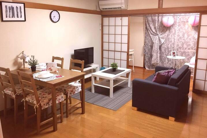 日大工学部 安積永盛駅近ゆったりワンルームプラスα家族や友達同士グループ旅行に111号室