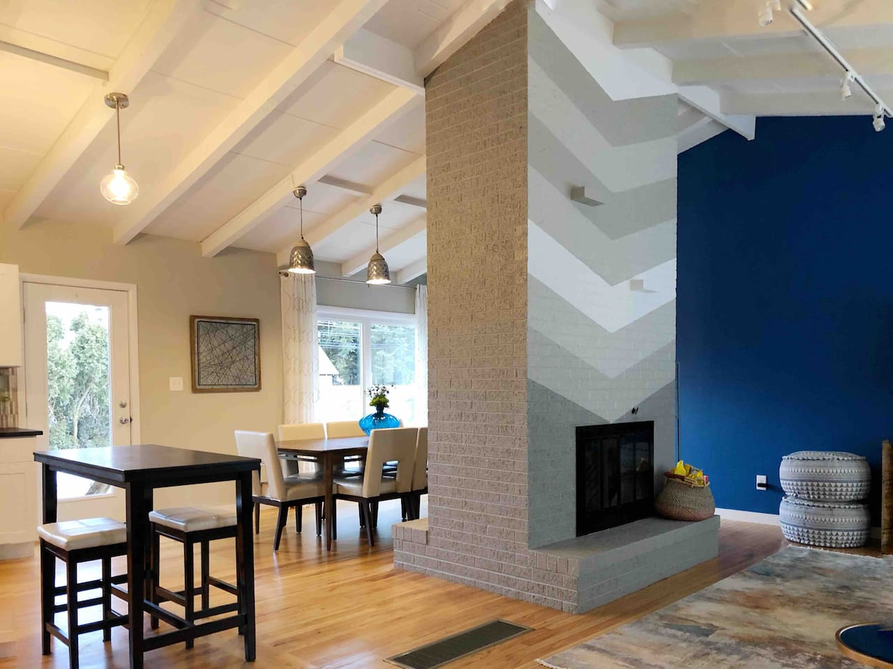 Open concept family living with fireplace.  Relax!!