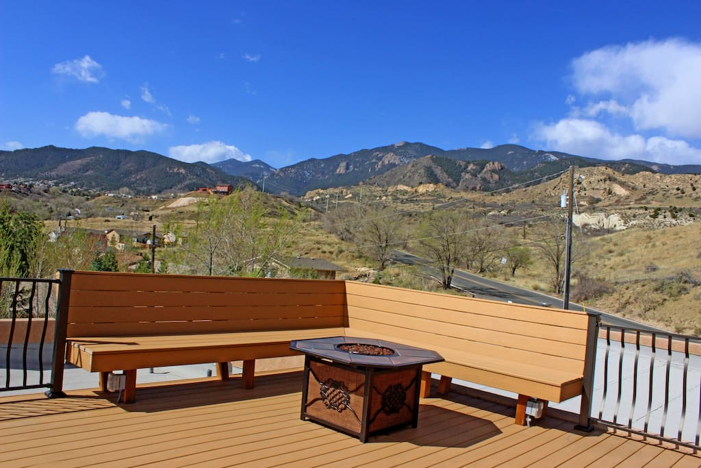 Enjoy the beautiful Colorado skies from the upper deck.