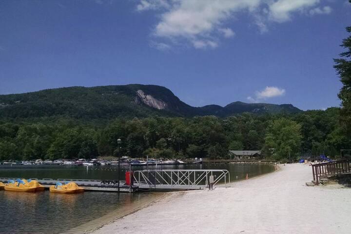 Resort's Beach front area