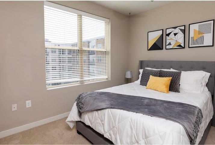 Bedroom #2 - Guest bedroom with queen bed and very comfortable gel infused memory foam mattress.