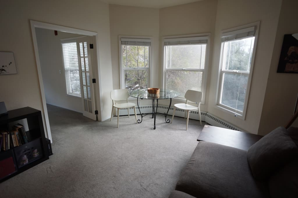 Living room and door to the bedroom