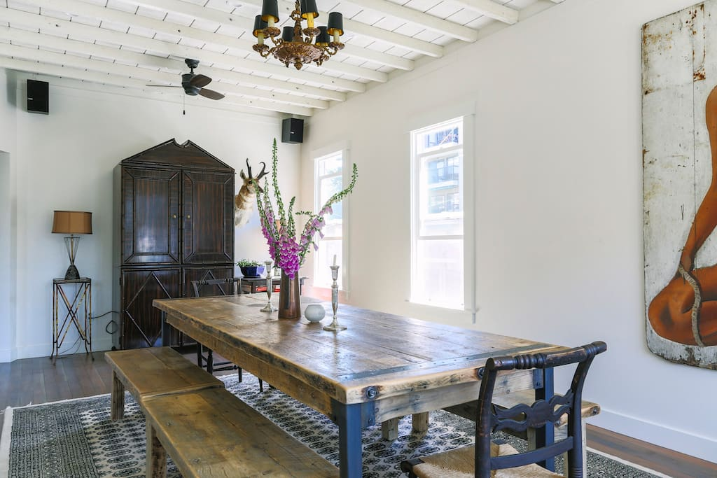 Farm table in great room.